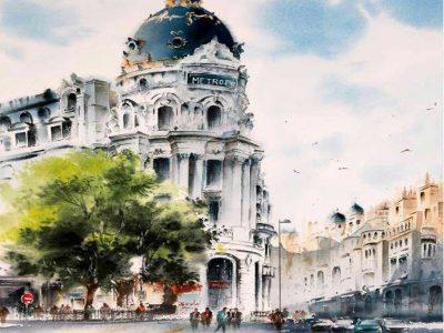 آموزش نقاشی آبرنگ پنج شنبه ها