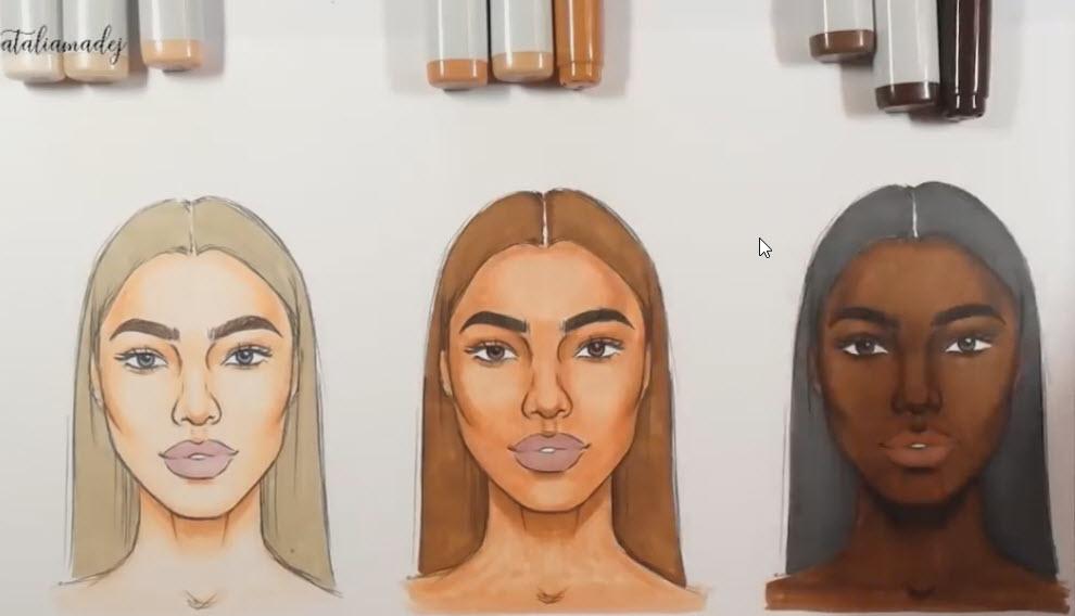 انتخاب ماژیک های مناسب برای رنگ پوست های متفاوت