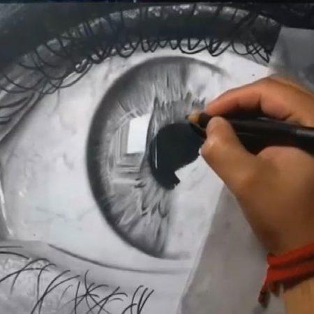 آموزش طراحی چشم در سیاه قلم